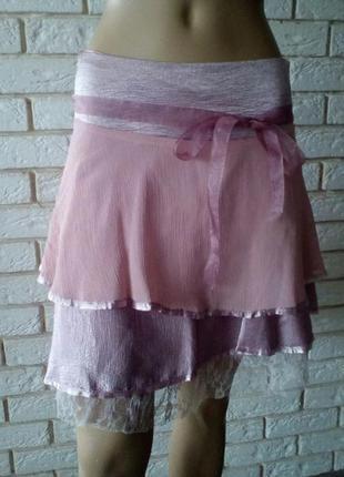 Винтажная  юбка с рюшами, карнавальная юбочка   8 - 10 v.i.c