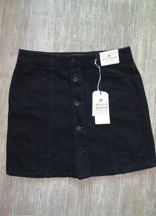 Новая джинсовая черная юбка jack wills