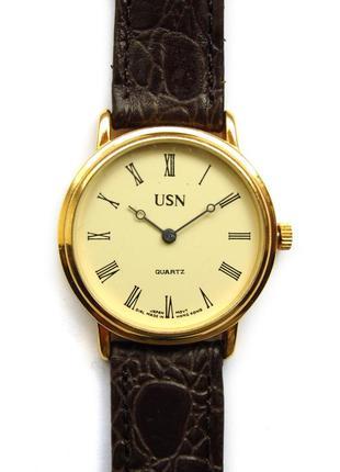 Usn oneworld винтажные часы из сша кожа механизм japan al20e