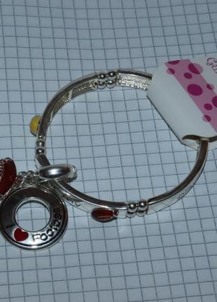 Новый красивый браслет с подвесками металл gurlie girl вес 29,9 грамм винтаж