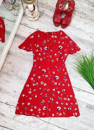 Шикарное яркое платье в цветочек, натуральна сукня,f&f