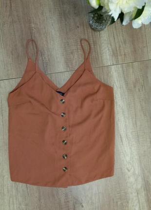 Майка маечка блуза в бельевом стиле с пуговицами свободная оверсайз