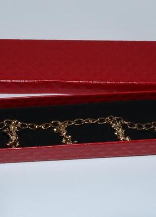 Новый браслет с подвесами герои дисней disney металл позолота в коробке вес 17,0 грамм винтаж