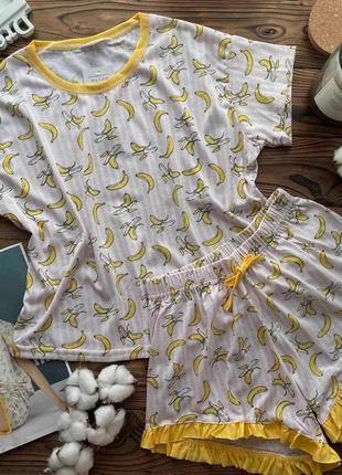 Хлопковая пижама с бананами