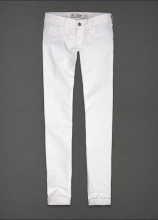 #розвантажуюсь білі завужені скіні джинси abercrombie &fitch