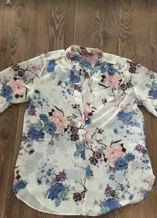 Красивейшая блузка в цветы