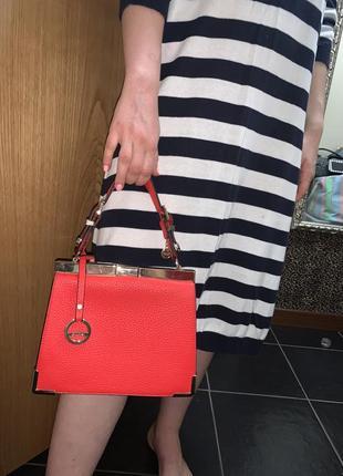 Красная сумка красный клатч алая сумка