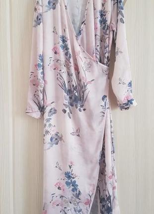 H&m   платье халат на запах в цветочный принт