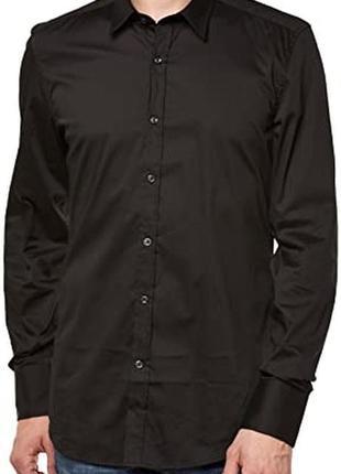 Шикарная чёрная рубашка antony morato super slim, 💯 оригинал, молниеносная отправка 🚀⚡