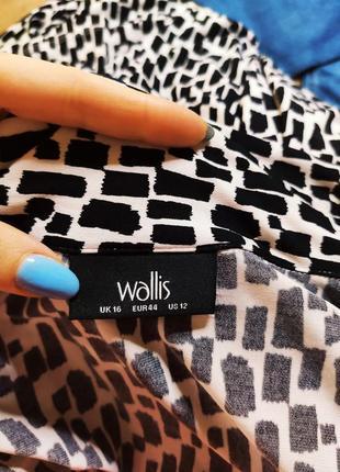Wallis платье чёрное белое в принт миди с поясом на запах по фигуре карандаш футляр8 фото