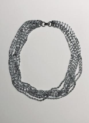 "Винтажное колье sarah coventry ""silvery cascade"", monet, napier, trifari. винтаж."