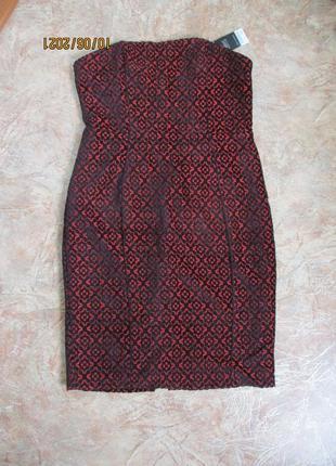 Нарядное платье футляр/сукня без бретелей/с бархатным узором/батал