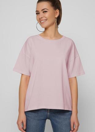 Розовая футболка, малиновая футболка, фуболка свободного кроя, хлопковая футболка 46