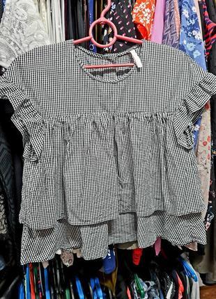 Блузка коротенькая хлопок zara