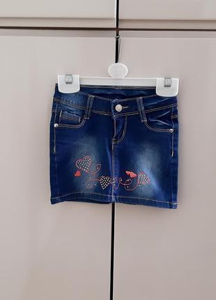 Джинсова юбка, спідничка miss bellina 92/98 розміру.
