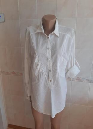 Легчайшая хлопковая белая рубашка