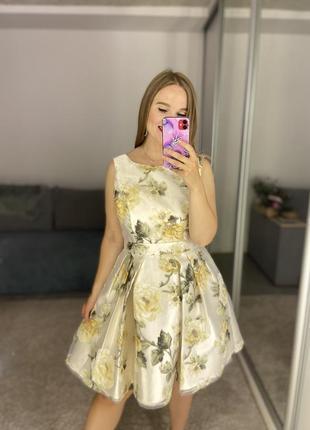 Невероятное нарядное платье из органзы #587
