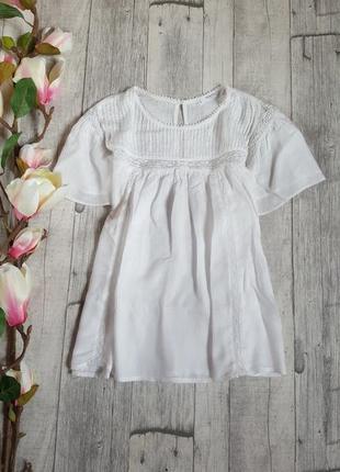 Белая блуза mango