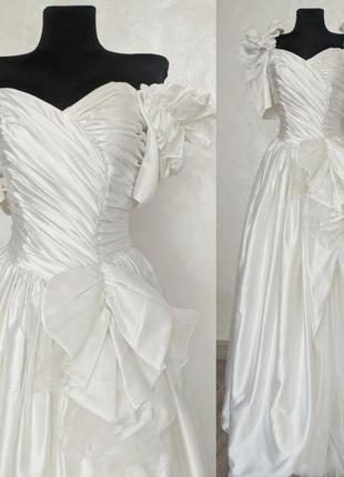 Шикарное винтажное свадебное платье pronovias barcelona испания для фотосессии