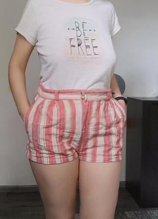 Шорты шортики 🩳 короткие летние шорти льон легкі світлі літні