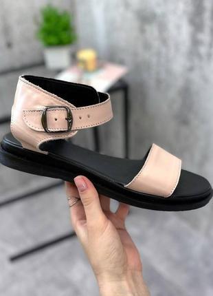 Босоножки, сандалии гладиаторы кожаные