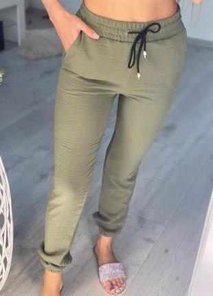 Женские летние штаны джоггеры
