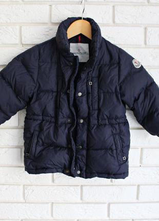 Очень теплая курточка пуховик moncler оригинал 3-4 года