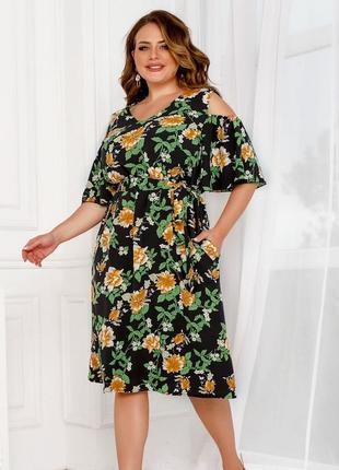 Сукня plus size 2282 чорна