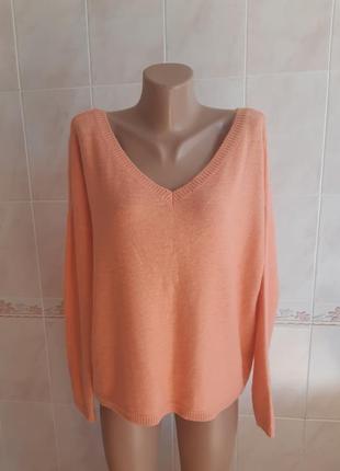 Кофта свитер oversize colin's персикового цвета