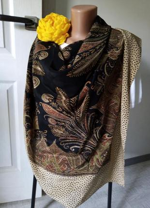 Платок большой шёлк индия хустина шовк