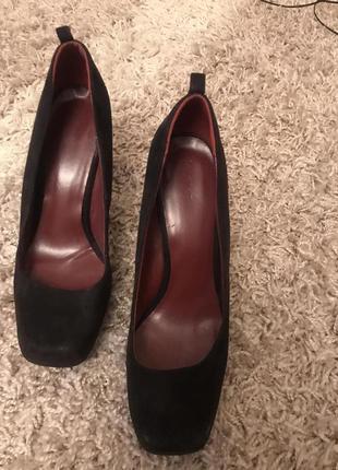 Стильные туфли квадратный носок скидки недорого широкий каблук