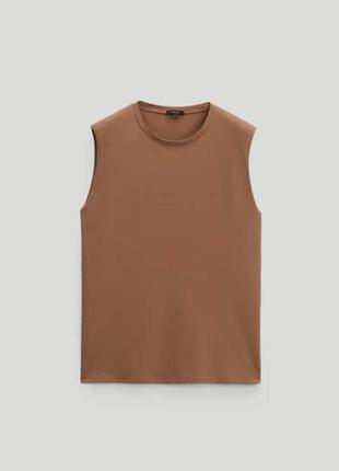 Топ майка футболка с подплечниками massimo dutti