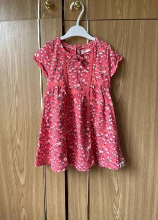 Детское хлопковое платье