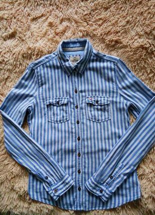Женская рубашка в полоску hollister