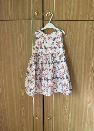 Детское летнее платье с бабочками