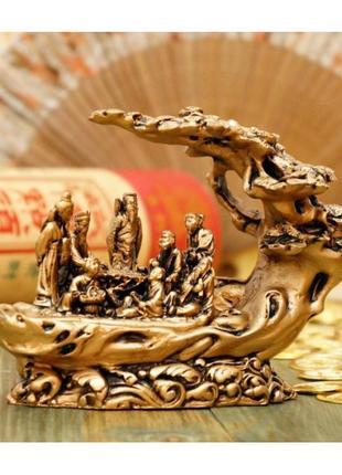 Статуэтка восемь священных даосов под деревом