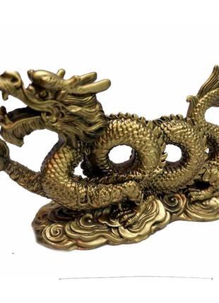 Статуэтка дракон с жемчужиной два кольца