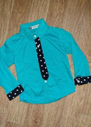 Красивая яркая нарядная рубашка с галстуком в стиле стиляги