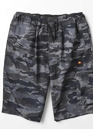 Камуфляжные шорты-карго ellesse