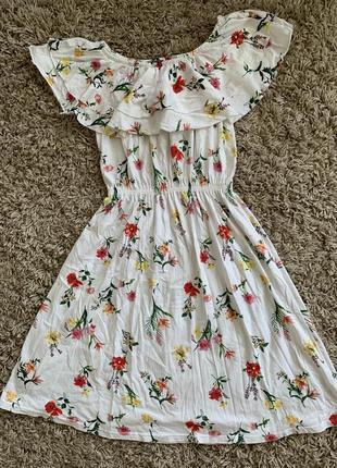 Цветочное платье s, m