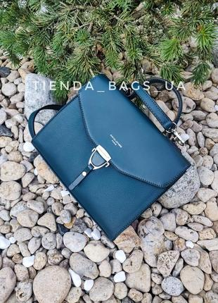 Клатч david jones td014 т.бирюзовый (d. green) - / сумка через плечо трапеция