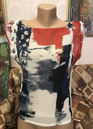 Яркая цветная летняя майка туника блуза 🔸 бренд sisley