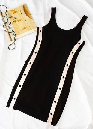 Спортивное облегающее платье с лампасами h&m плаття сукня