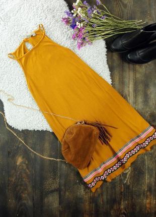 Роскошное платье-трапеция в рубчик с вышивкой asos