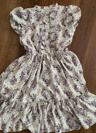 Очень милое шифоновое платье на хлопковой подкладе
