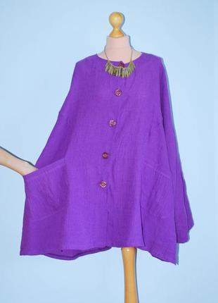 Батал франция шикарная куртка  длинный жакет с широкими боками рукавом