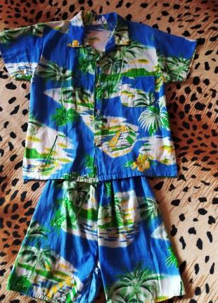 Пляжный летний костюм для мальчика