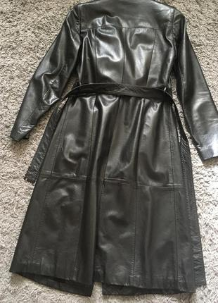 Кожанное пальто sisley