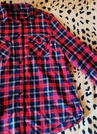 Рубашка клетчатая oodji