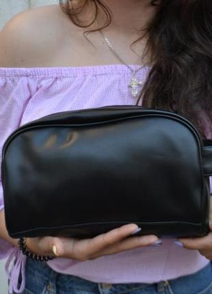 Сумка барсетка косметичка кожаная / экокожа / сумочка